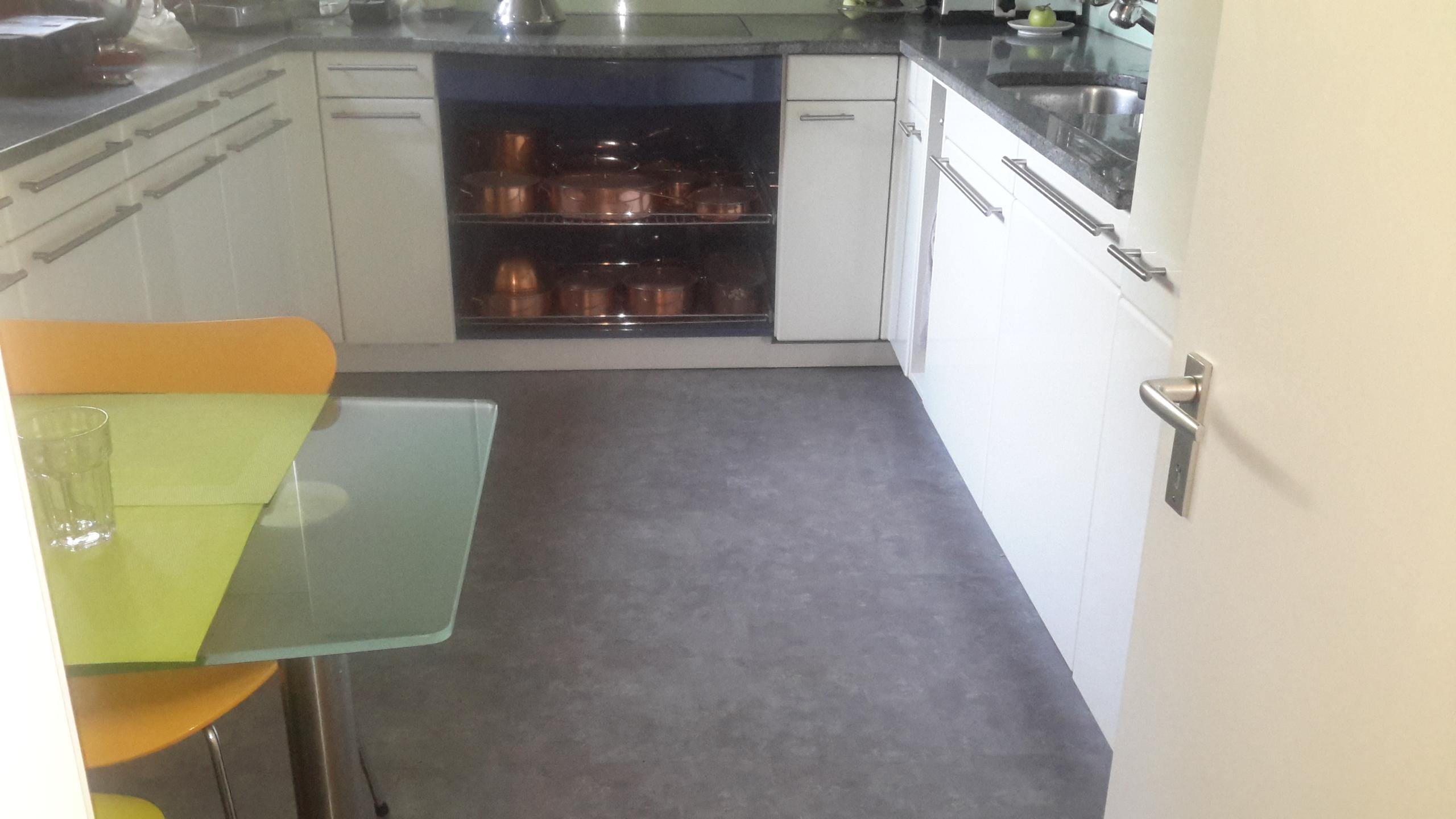 Vinyl im Küchenbereich